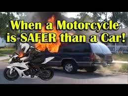 When a motorcycle is safer than a car