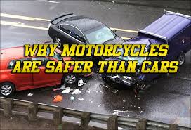 Why motorcycles are safer than cars