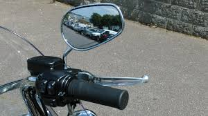 Motorcycle mirrors have a blind spot